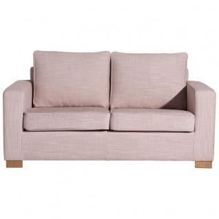 Nebraska Sofa 2-Sitzer Chenille Rose Buche Natur
