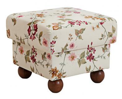 Ohrensessel Ohrenbackensessel Sessel + Hocker + Kissen floral Blumen Landhaus - Vorschau 4
