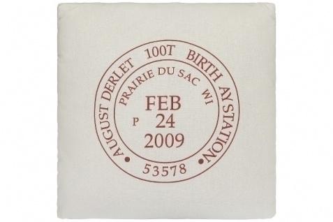 Kissen Stamp Baumwolle Weiß