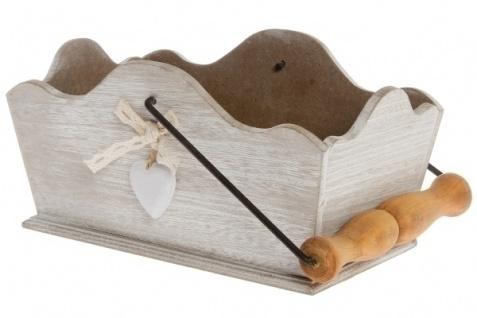 Holzkorb Heinfried MDF Weiß