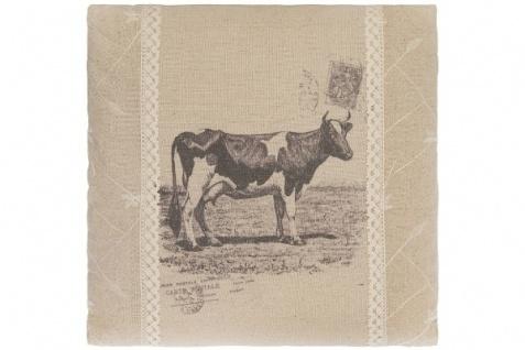 Kissen Cow Quadratisch Baumwolle&Polyester Beige