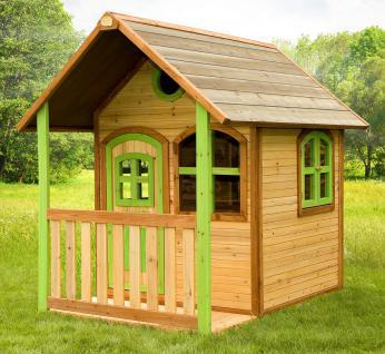 Spielhaus Holzspielhaus Hütte Spielhütte mit Veranda Zeder stabil TÜV geprüft - Vorschau 1