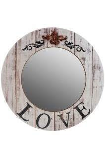 Holzspiegel rund Love MDF Mehrfarbig