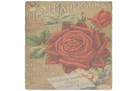 Kissen Jubilee Roses Baumwolle&Polyester Bunt