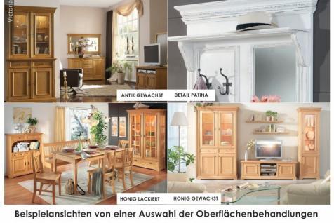 Schrank Kleiderschrank 2-türig Schlafzimmerschrank Fichte massiv antik gewachst - Vorschau 3