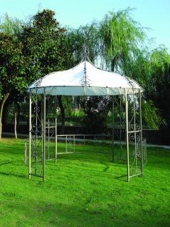 Gartenpavillon Pavillon rund Polyester und Stahl