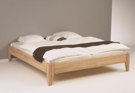 Doppelbett Systembett Traumbett Eiche massiv bianco geölt 180x200cm Schlafzimmer