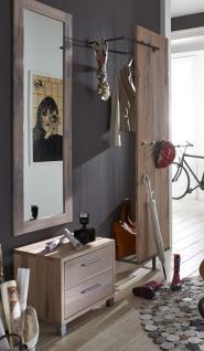 Garderobe Set Paneel Spiegel Kommode Flur Balken Eiche massiv geölt white wash - Vorschau 1