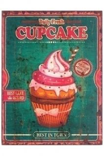 Holzschild Cupcake II MDF Mehrfarbig