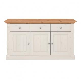 MONACO Sideboard 146x46 Kiefer White Wash Provence