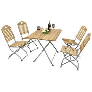 Gartengruppe Gartenmöbel Set 5-teilig Gartengarnitur Kurgarten Robinie Stahl
