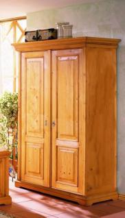 Schrank Kleiderschrank 2-türig Schlafzimmerschrank Fichte massiv antik gewachst - Vorschau 1