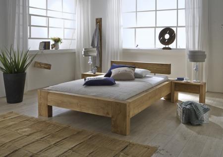 Bett Doppelbett Kiefer Fichte massiv natur gewachst teilweise alt aufgewertet - Vorschau 2