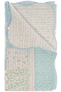 Patchwork Decke Maria I Baumwolle Mehrfarbig