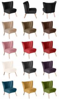 Sessel Sitzmöbel Stuhl Retrosessel Retro Stil bunt farbig Verlours samtig