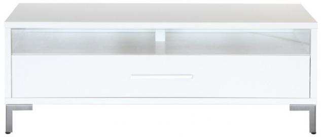Lowboard Rack TV Board Beimöbel Wohnzimmer MDF weiss lackiert - Vorschau 1