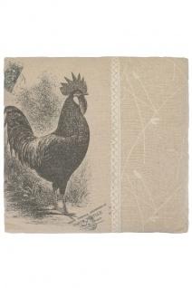 Kissen Rooster Quadratisch Baumwolle&Polyester Beige