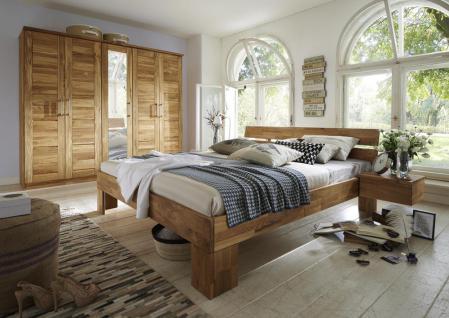 Schlafzimmer Komplettset Schlafzimmerset 5-teilig WIldeiche Bett Schrank Nako