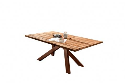 TABLES&Co Tisch 200x100 Balkeneiche Natur Metall Braun