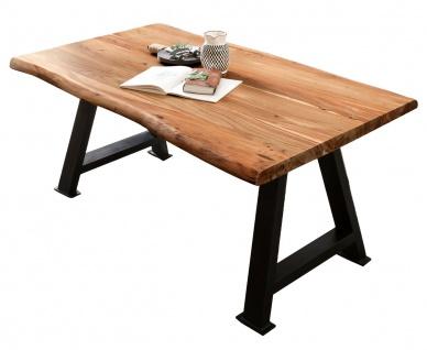 TABLES&Co Tisch 200x100 Akazie Natur Metall Schwarz