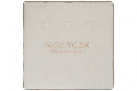 Sitzkissen New York Baumwolle Weiß