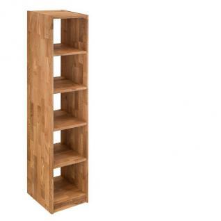 Regal Bücherregal Standregal 5 Fächer Büroregal Wildeiche massiv Aufbewahrung