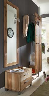 Garderobe Set Paneel Spiegel Kommode Flur Balken Eiche massiv geölt white wash - Vorschau 2