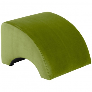 Brandford Hocker Samtvelours Olive Kunststoff