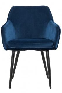 Esszimmerstuhl Polyester und Metall Blau