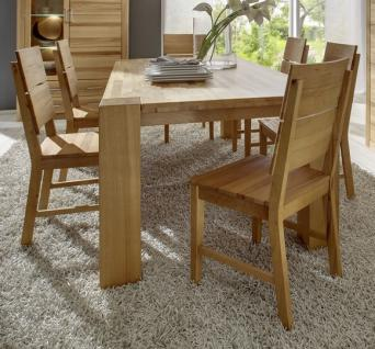 Tischgruppe Esstisch Stühle Essgruppe 7-teilig Kernbuche massiv