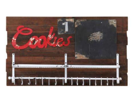 Wandpaneel Woody Cookies Altholzlook massiv Paneel Küchentafel Tafel Haken