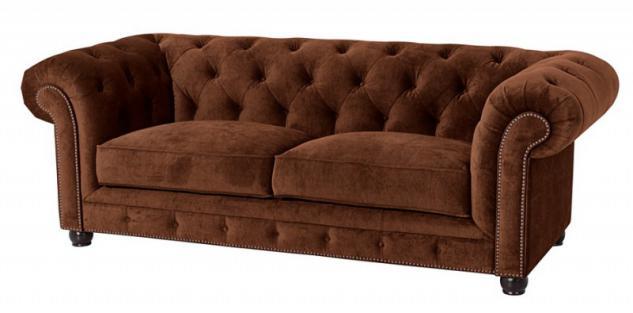 Sofa Couch 3-sitzig Samt Samtvelour Buche grau schwarz burgund creme braun