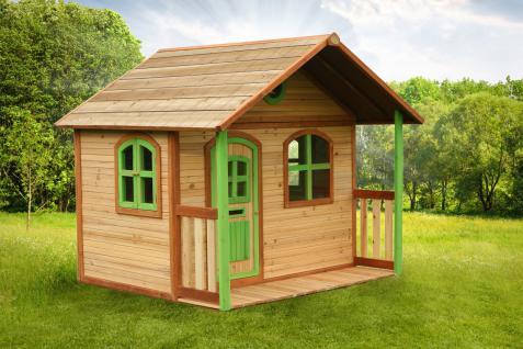 Spielhaus Spielhütte Gartenhaus für Kinder Holzspielhütte TÜV geprüft sicher - Vorschau 1