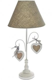 Romantik Lampe Luana Holz Weiß&Grau