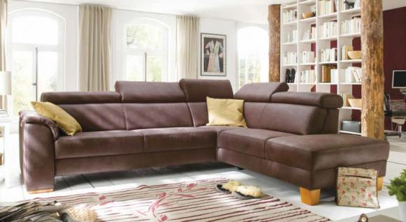 Ecksofa Polstergruppe Sofa Couch System espresso Polstereckcouch