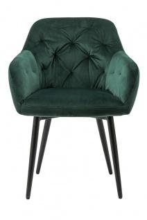Esszimmerstuhl Metall und Polyester Grün