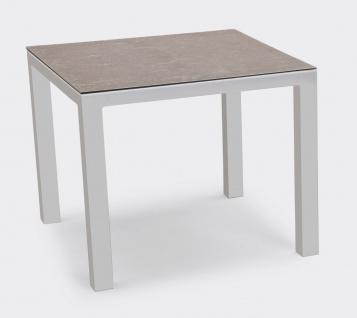 Housten Tisch 90x90 Alu Silber