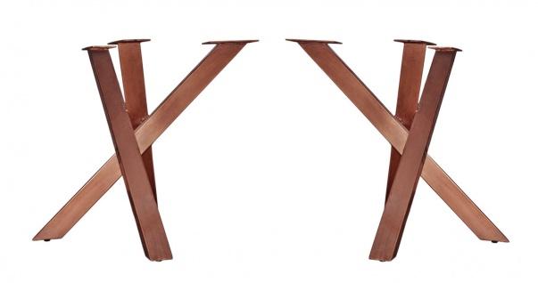 TOPS&TABLES Tischgestell Stahl Antikbraun