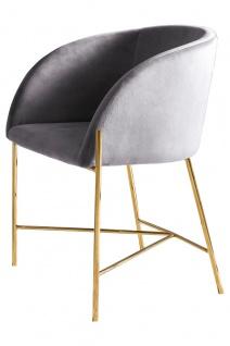 Stuhl Metall und Polyester Grau