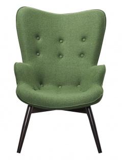 Sessel Metall und Polyester Tannengrün