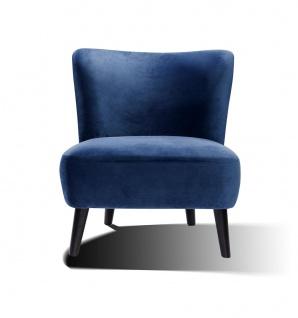 Sessel Holz und Polyester Blau