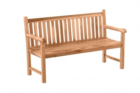 Gartenbank Sitzbank mit Rückenlehne 2-Sitzer 150 Teak