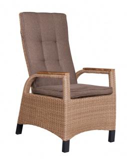 Relaxsessel Sessel Metall Polyethylen und Holz Braun