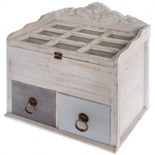 Holzbox Mikene 2 Schubladen Mehrfarbig