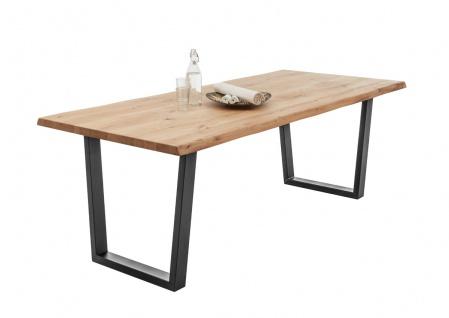 Esstisch Ben Tisch 220cm Eiche Baumkante Massiv