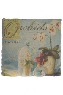Kissen Orchidee Baumwolle&Polyester Bunt