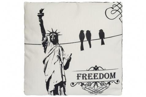 Kissen Freedom Baumwolle&Polyester Weiß
