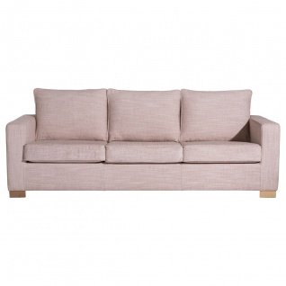 Nebraska Sofa 3-Sitzer Chenille Rose Buche Natur