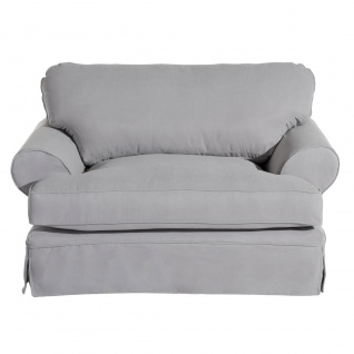Hayde Sessel Veloursstoff Silber Kunststoff
