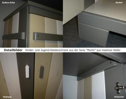 Kleiderschrank Jugendzimmer Kinderzimmer 3-türig Kiefer massiv - Vorschau 3